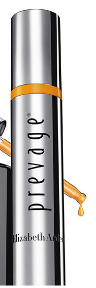 """LIFTS"" the look of skin within 15 minutes* New PREVAGE® Serums."