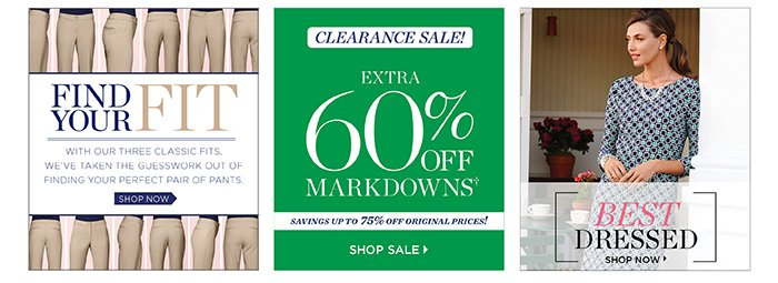 Find your fit, shop pants by fit. Clearance sale! Extra 60% off markdowns, savings up to 75% off original prices! Shop sale. Best dressed, shop now.