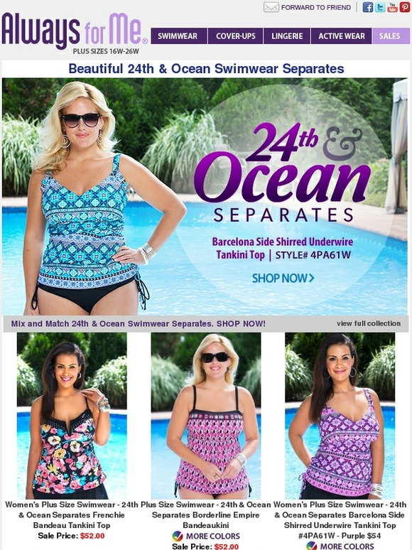 2c9f47a00a8e1 Always for Me  Just Arrived 24th   Ocean Swimwear Separates!