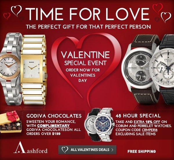 Valentine's Day Deals at Ashford.com!