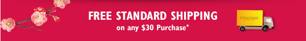 Free Standard Shipping on $30