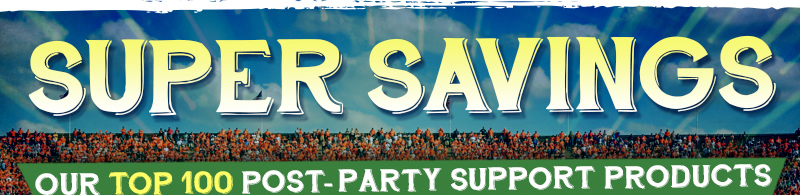 Super Savings Top 100 Post Party Support