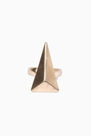 Facet Triangle Ring 14