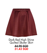 RIVER ISLAND Quilted Skater Skirt - now only 31.43SGD