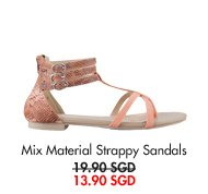 EZRA Strappy Sandals - now only 13.90SGD