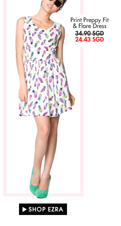 EZRA Fit & Flare Dress - now only 24.43SGD