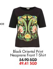 RIVER ISLAND Black Oriental T-Shirt - now at 49.41SGD
