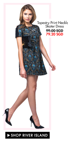 RIVER ISLAND Tapestry Print Dress - now 79.90SGD