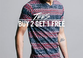 Shop Buy 2 Get 1 Free: Tees & Raglans