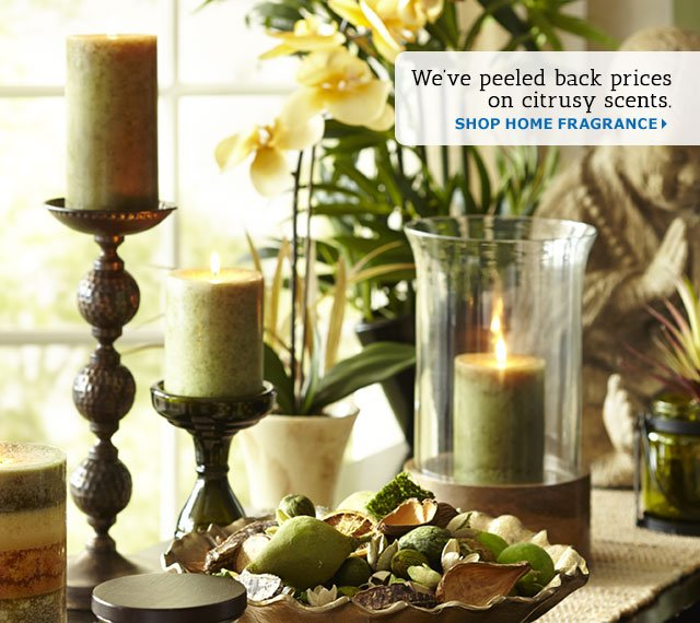 Pier 1: Save 20% on clean citrus scents. | Milled