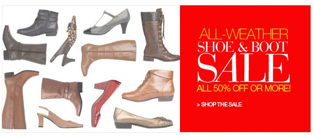 Shop Shoe and Boot Sale, All 50% Off or More