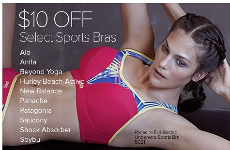 $10 Off Select Sports Bras