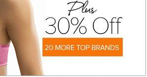 30% Off Top Brands