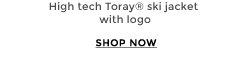 High tech Toray® ski jacket with logo