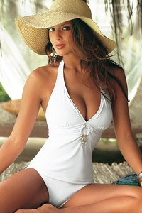 Jette White Ring and Pearl Tankini £49