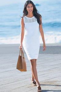 White Crochet Trim Dress £39