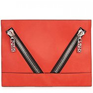 KENZO - Kalifornia zip embellished leather clutch