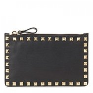 VALENTINO - Rockstud mini leather pouch