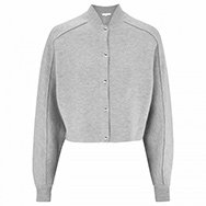 ALEXANDER WANG - Double-faced jersey bomber jacket
