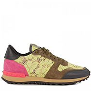 VALENTINO - Lace panelled trainers