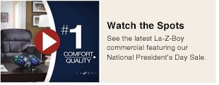 Watch the Spots - See the latest La-Z-Boy commercial featuring our National President's Day Sale.