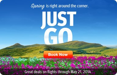 Click 'n Save - Spring is right around the corner - Just Go!