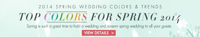 2014 SPRING WEDDING COLORS&TRENDS TO COLORS FOR SPRING 2014 SHOP NOW