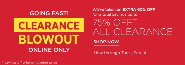 Up to 75% off Clearance Blowout