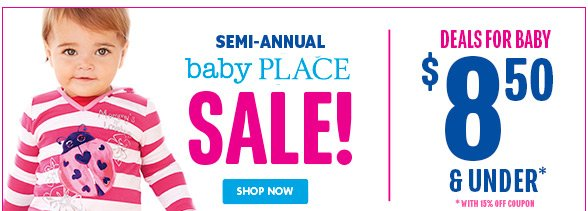 Semi-Annual Baby Sale! Deals for Baby $8.50 and under!