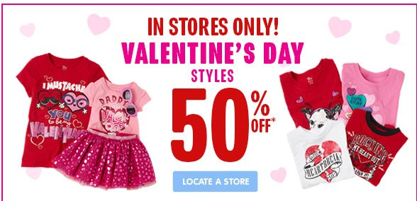 In Stores Only - Valentine's Day Styles on Sale!
