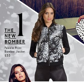 Pebble Print Bomber Jacket