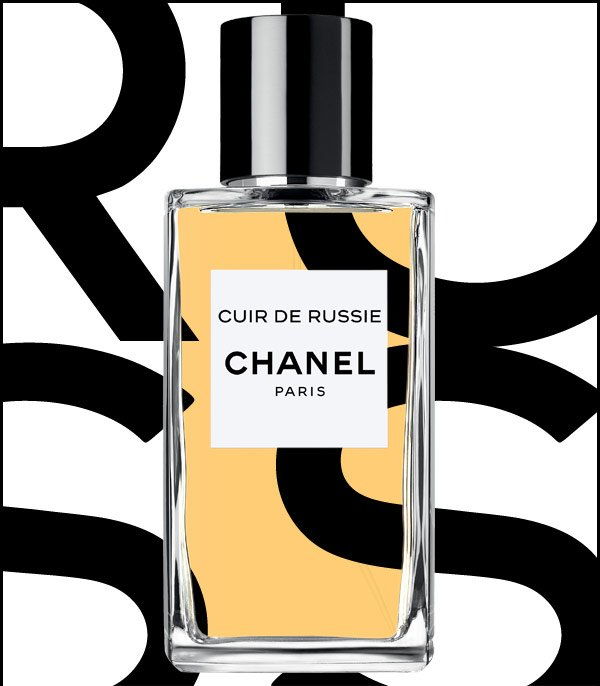 CUIR DE RUSSIE Inspired by the wild and elegant world of Russia, an imperial fragrance enriched with notes of leather and tobacco. From LES EXCLUSIFS DE CHANEL.