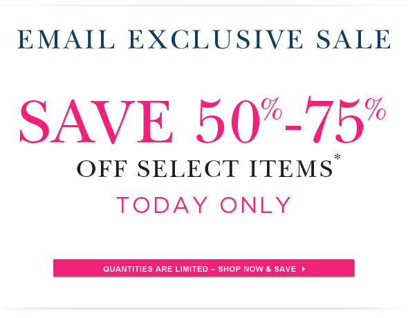 One Day Online Exclusive Sale.