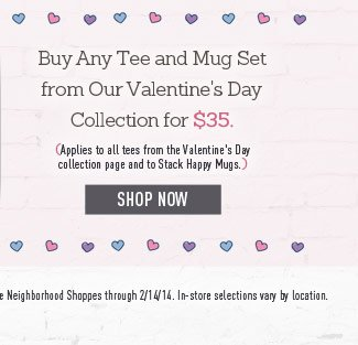 Tee and Stackable Mug Deal