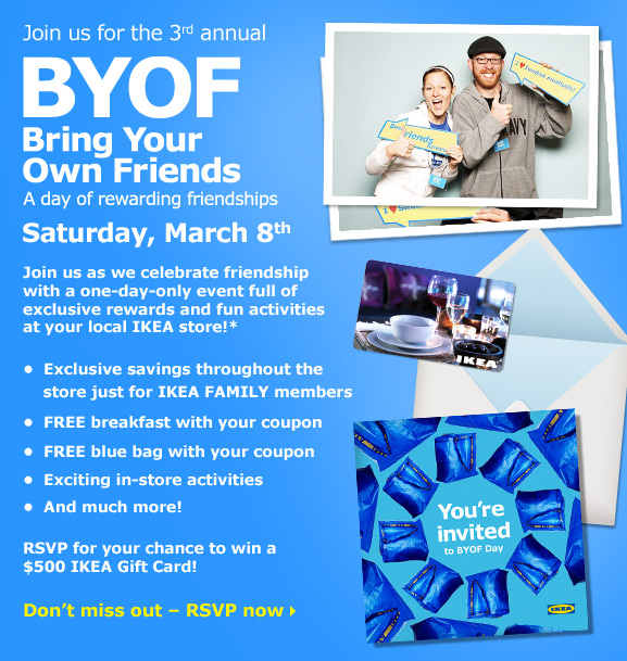 Join us for the 3rd annual BYOF