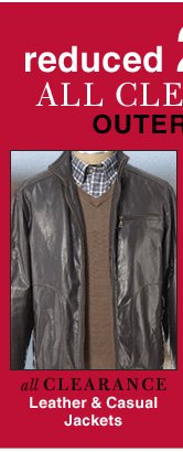 Clearance Leather & Casual Jackets - reduced 25%