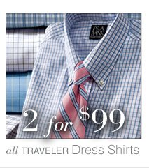 2 for $99 USD - Traveler Dress Shirts