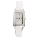 DKNY NY8774 Women's Silver Dial White & Coral Leather Strap Quartz Watch
