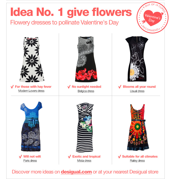 Idea No. 1 give flowers