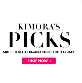 Kimora Picks - Shop Now!