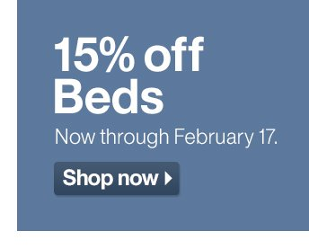 15% off Beds