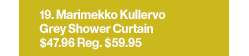 Marimekko Kullervo Grey Shower Curtain