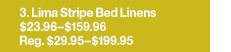 Lima Stripe Bed Linens