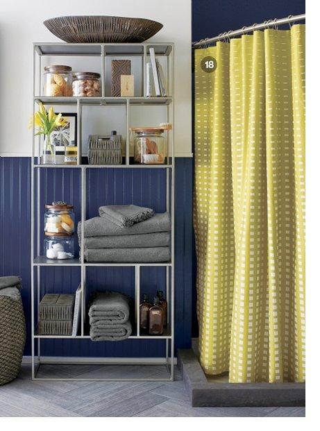 Marimekko Kullervo Citron Shower Curtain