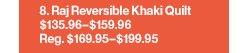 Raj Reversible Khaki Quilt