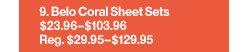 Belo Coral Sheet Sets