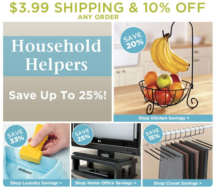 $3.99 Shipping • 10% Off • Lilly's Household Helper Sale