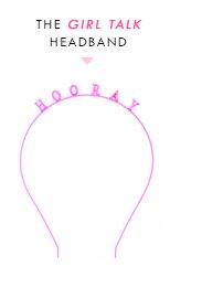 ban.do girl talk headband - hooray
