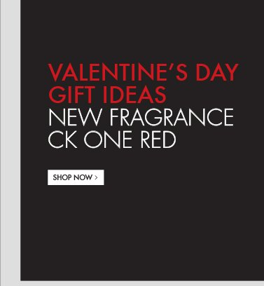 VALENTINES DAY GIFT IDEAS NEW FRAGRANCE CK ONE RED