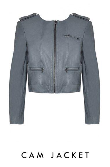 Cam Zipper Sleeve Biker Jacket